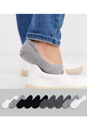 ASOS 10 pack invisible liner sock in monochrome save-Multi