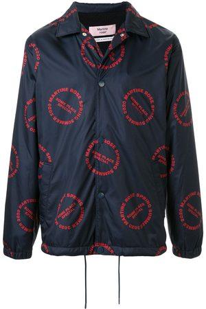 MARTINE ROSE Logo print bomber jacket