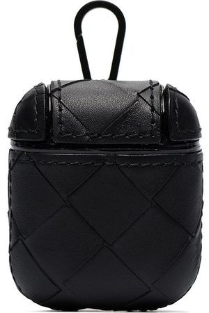 Bottega Veneta Black woven leather AirPods case