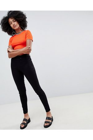 New Look Ženy S vysokým pasem - Jegging with high waist in black