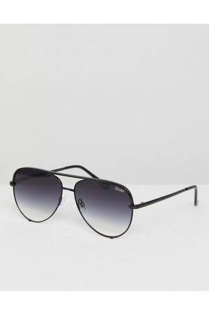Quay Australia Ženy Sluneční brýle - High Key Mini aviator sunglasses in black fade