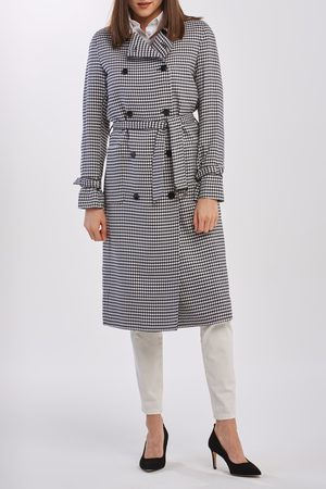 GANT Kabát D1. Gingham Fluid Trench Coat