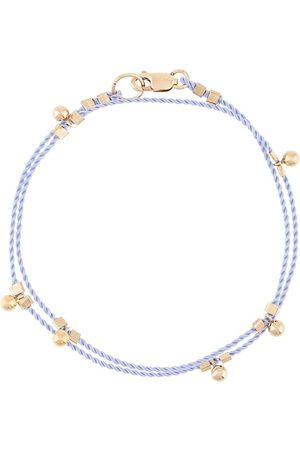 Petite Grand Wrap cord ball drop bracelet