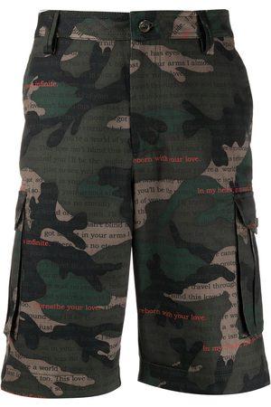VALENTINO Camouflage-print bermuda shorts