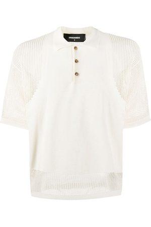 Dsquared2 Mesh-insert short sleeved polo shirt