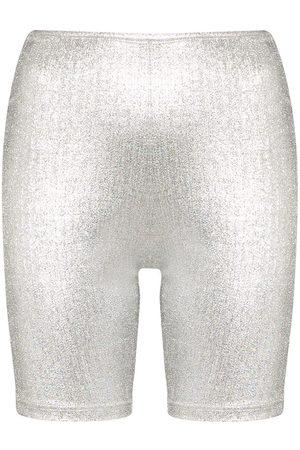 Paco Rabanne Metallic logo band cycling shorts