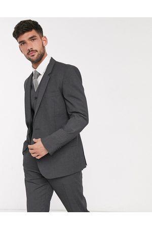 ASOS Muži Saka - Slim suit jacket in charcoal-Grey