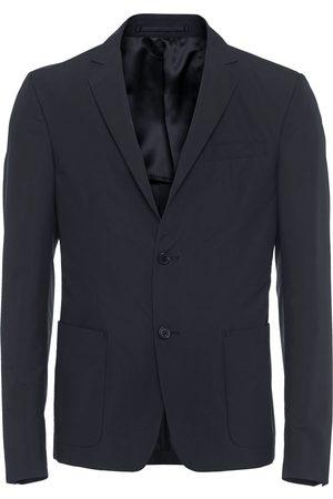 Prada Technical poplin single-breasted jacket