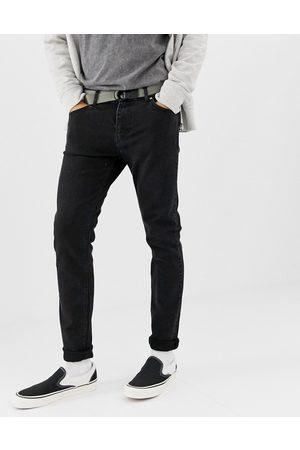 Weekday Muži Skinny - Friday slim jeans tuned black