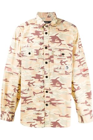 Diesel Camouflage-print two-pocket overshirt