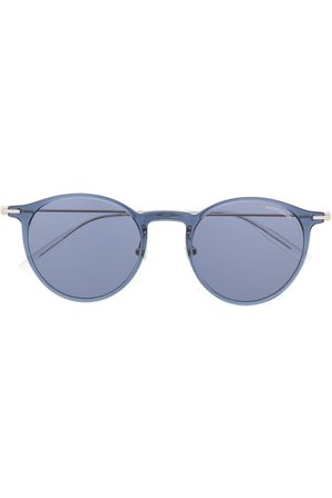 Mont Blanc Transparent round-frame sunglasses