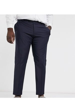 ASOS Muži Chino - Plus slim smart trousers in navy