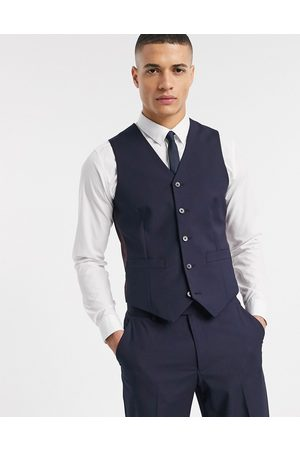 ASOS Slim suit waistcoat in navy