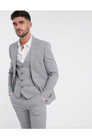 River Island Skinny fit suit jacket in grey