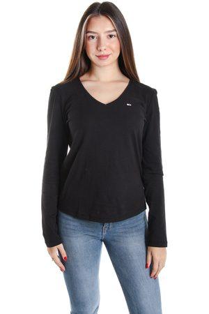Tommy Hilfiger Ženy S dlouhým rukávem - Dámské černé tričko s dlouhým rukávem