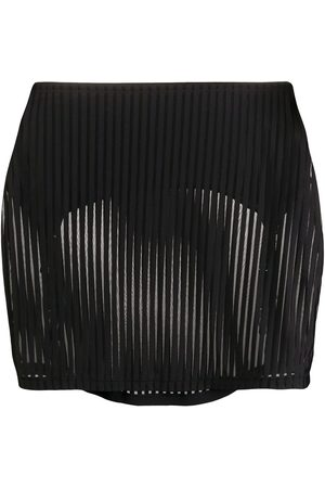 MAISON CLOSE Bandeau striped skirt