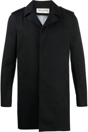 Saint Laurent Notched collar short raincoat