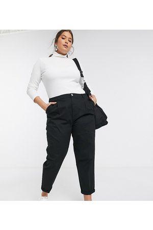 ASOS Ženy Chino - ASOS DESIGN Curve chino trousers in black