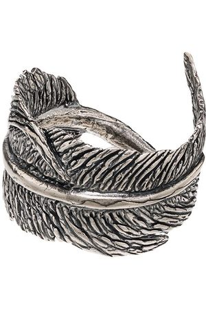 M. COHEN Feather motif ring