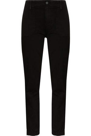 Paige Mayslie denim cargo trousers