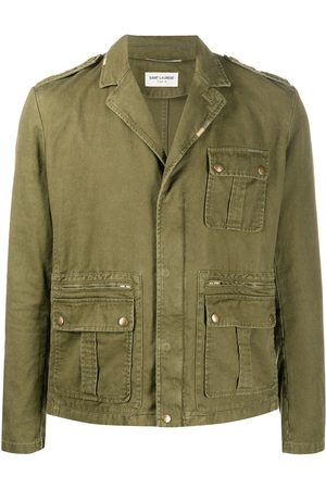 Saint Laurent Cargo-pocket military jacket