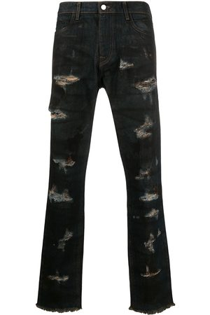 424 FAIRFAX Distressed straight-leg jeans