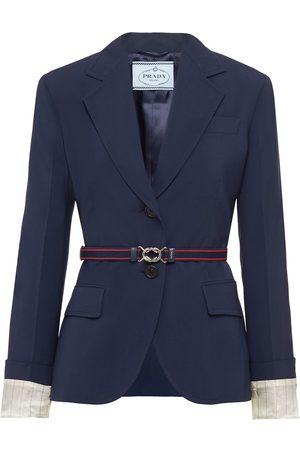 Prada Belted single-breasted blazer