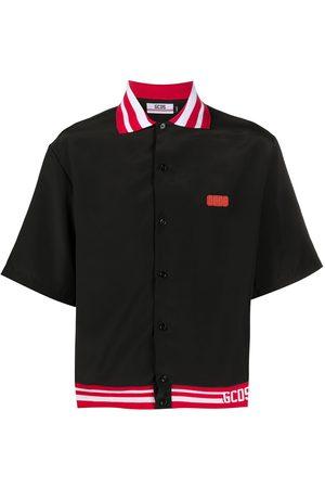 GCDS Short sleeve contrast trim polo shirt