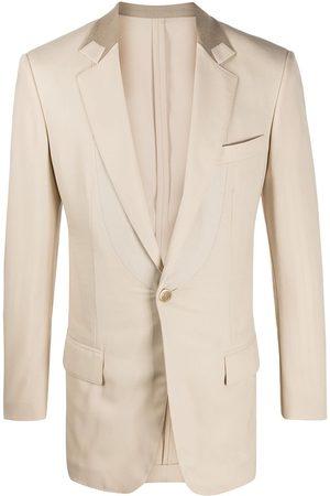 Gianfranco Ferré 1990s contrast detail slim-fit blazer