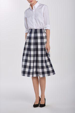 GANT Sukně D1. Gingham Pleated Skirt