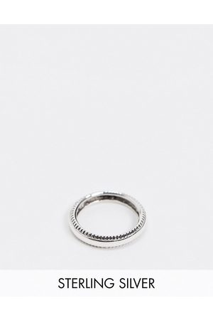 ASOS Sterling silver band ring with textured edge