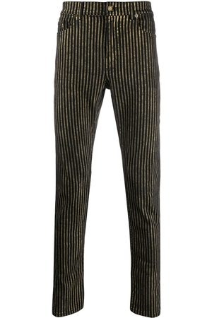 Saint Laurent Metallic striped jeans