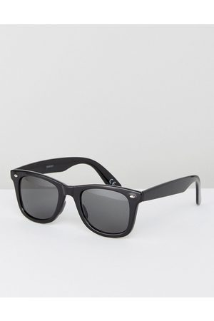 ASOS Square sunglasses in black plastic with smoke lens