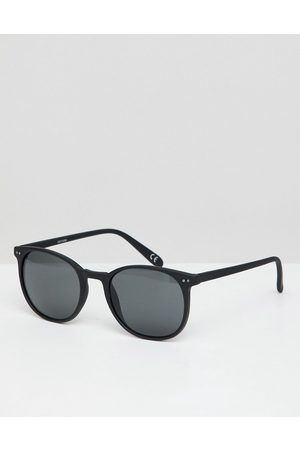 ASOS Square sunglasses in matte black with smoke lens