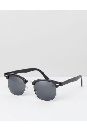 ASOS Retro sunglasses in black with smoke lens