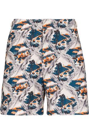 Orlebar Brown Muži Šortky - Bulldog summer scene swim shorts