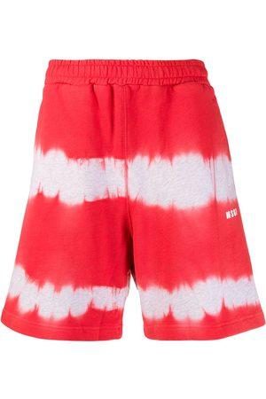 Msgm Muži Kraťasy - Tie-dye track shorts