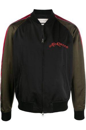 Alexander McQueen Dragon embroidered bomber jacket