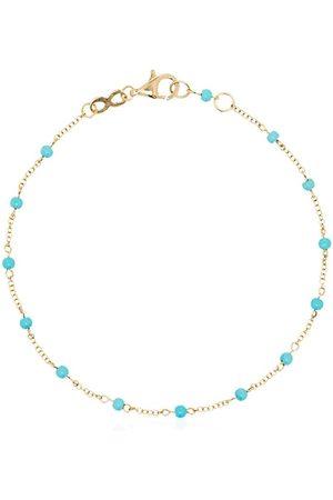 ROSA DE LA CRUZ 18kt yellow gold turquoise-dot chain bracelet