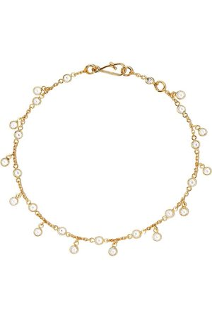 ANNOUSHKA 18kt yellow gold Nectar white sapphire bracelet