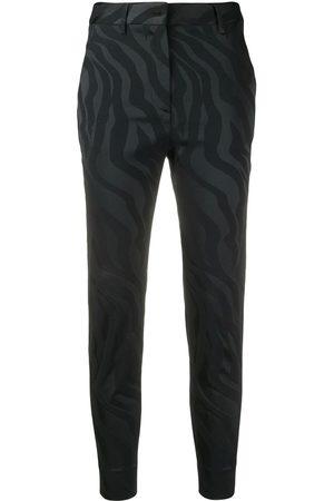 Roberto Cavalli Zebra-jacquard trousers
