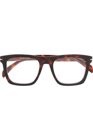 Eyewear by David Beckham Rectangular frame tortoise-shell glasses