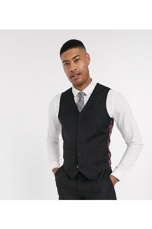 ASOS Muži Společenské vesty - Tall slim suit waistcoat in black