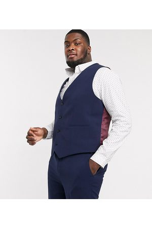 ASOS Plus super skinny suit waistcoat in four way stretch in navy