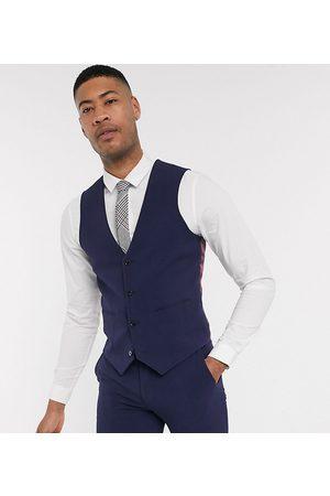 ASOS Muži Společenské vesty - Tall super skinny suit waistcoat in four way stretch in navy