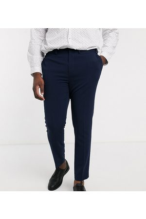 ASOS Plus super skinny suit trousers in four way stretch in navy