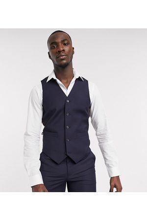 ASOS DESIGN Tall slim suit waistcoat in navy
