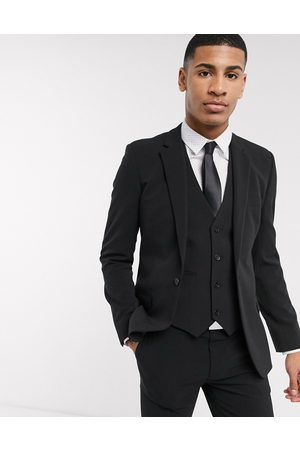 ASOS Super skinny suit jacket in four way stretch in black