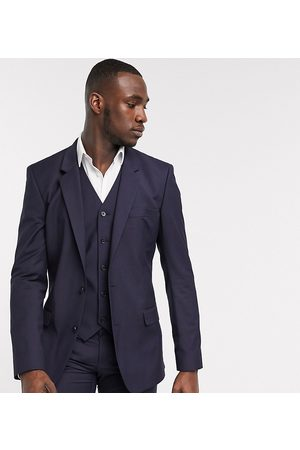 ASOS Tall slim suit jacket in navy