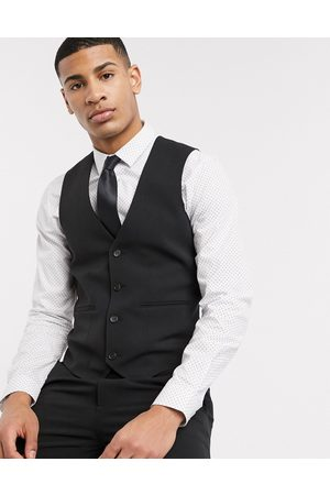 ASOS Super skinny suit waistcoat in four way stretch in black